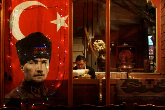 ataturk and flag