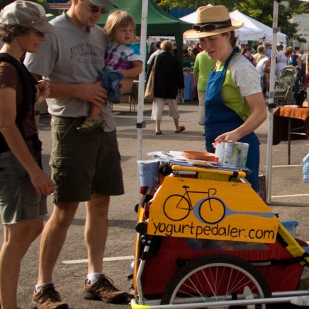yogurt pedaler with family